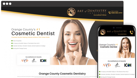 Art of Dentistry Web Design Landing Page
