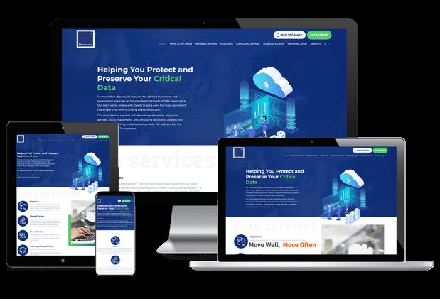 Custom website design for global data governance