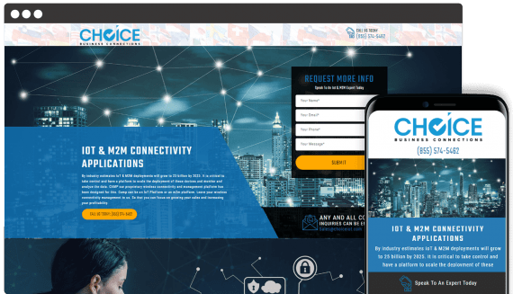 Choice Business Connections Web Design Landing Page