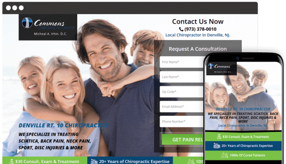 Commons Chiropractic Web Design Landing Page