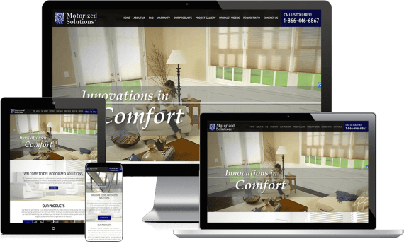 DEL Motorized Solutions Web Design Home Services