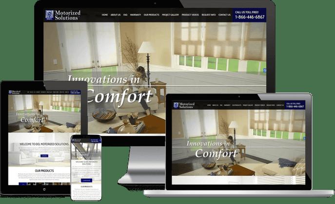 Custom website design for custom windows