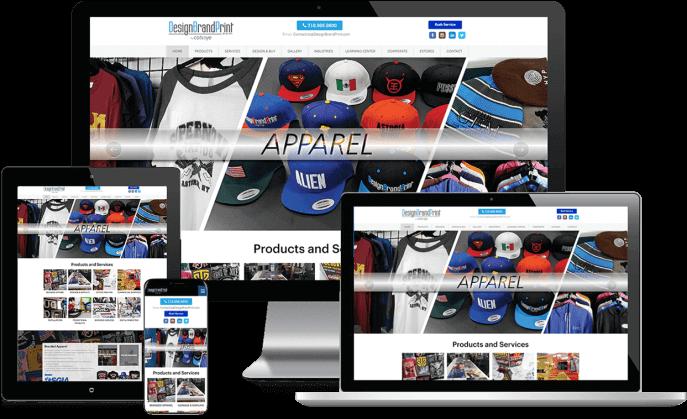 Custom website design for product branding company