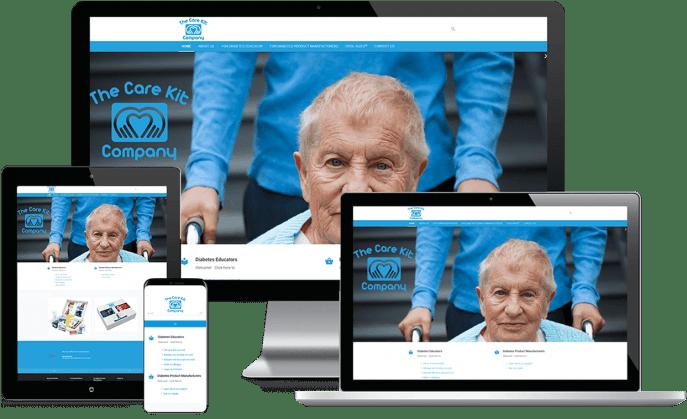 Custom website design for diabetes care