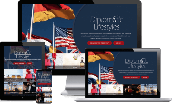 Diplomatic Lifestlyes Web Design Retail