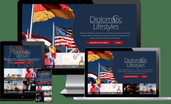 Custom website design for luxury goods