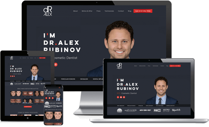 Custom website design for cosmetic dentists