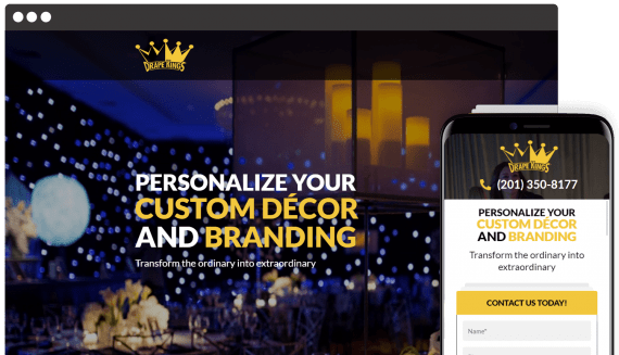Drape Kings Web Design Landing Page