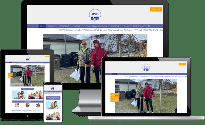 Custom website design for a domestic violence crisis center