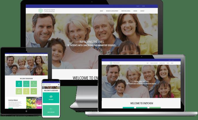 Custom website design for drug development companies