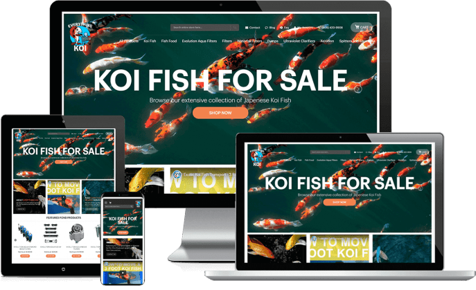 Ecommerce website for a fish store