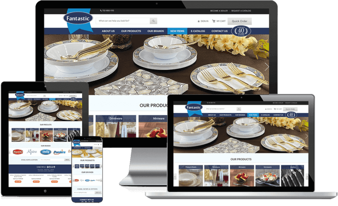 Ecommerce website for tableware products