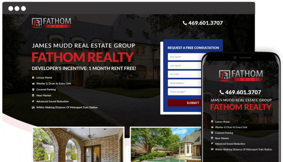 Fathom Realty Web Design Small Business
