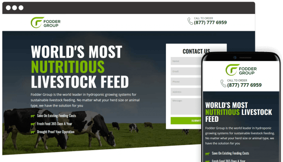 Fodder Group Web Design Landing Page