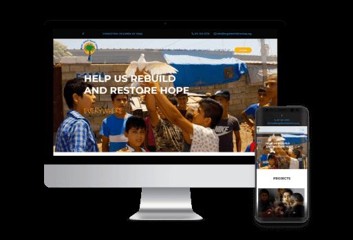 Forgotten Children Of Iraq Web Design Nonprofit