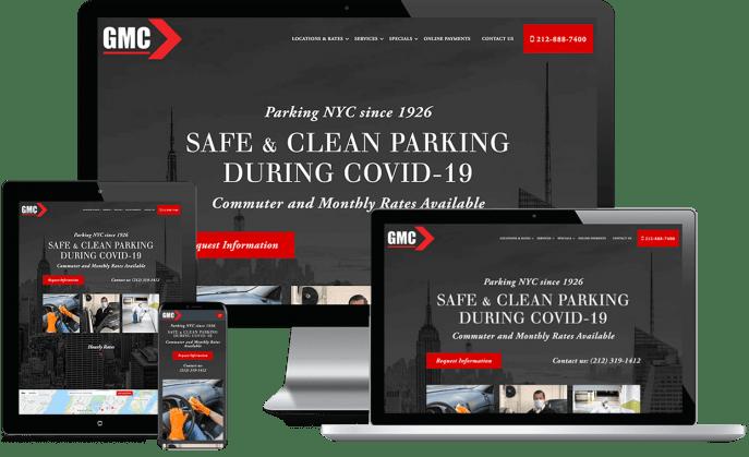 Custom website design for parking garages