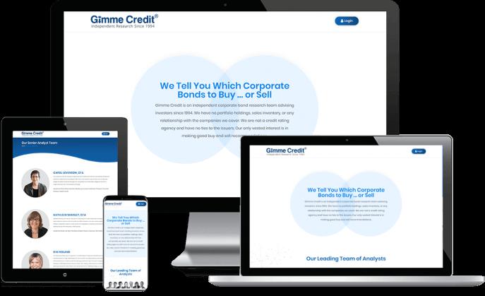 Custom website design for corporate bond research