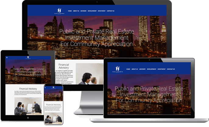 Custom website design for a real estate firm