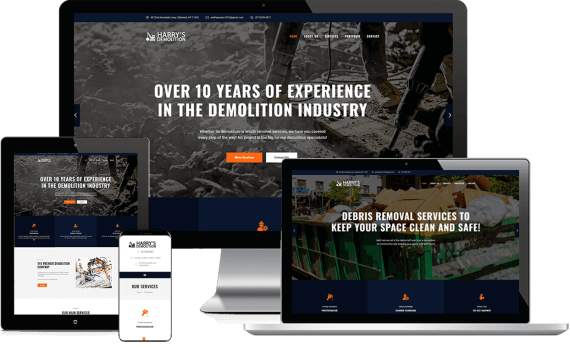 Harry's Demolition Web Design Template Site