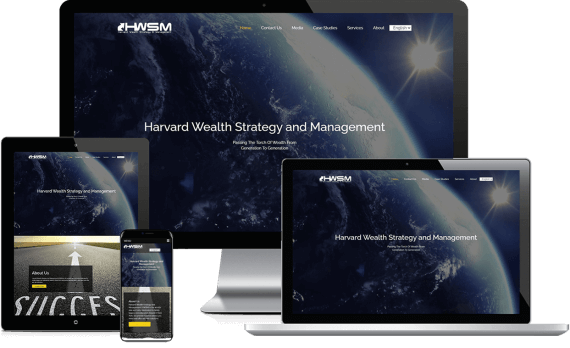 Harvard Wealth Strategy & Management Web Design Business to Business