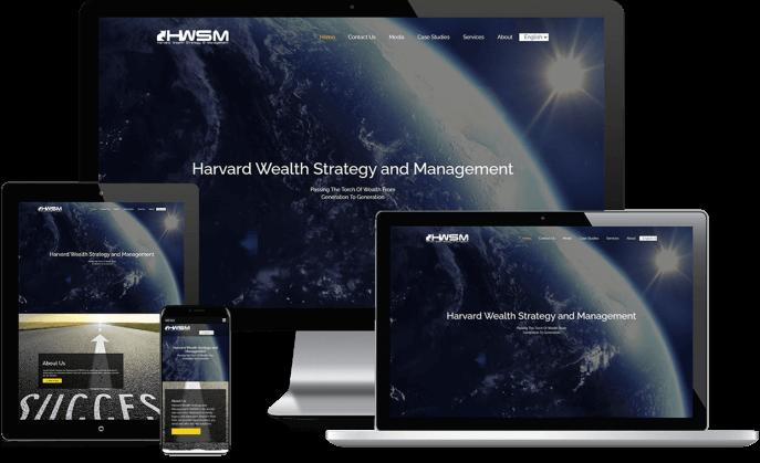 Custom website design for wealth education