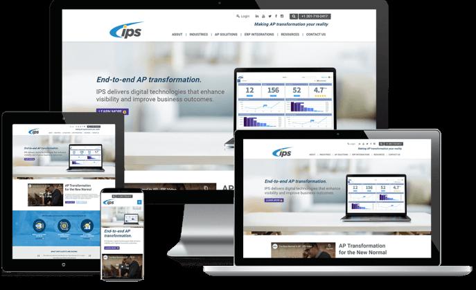 Custom website design for invoice processing