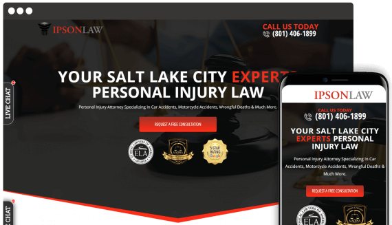 Ipson Law Web Design Landing Page