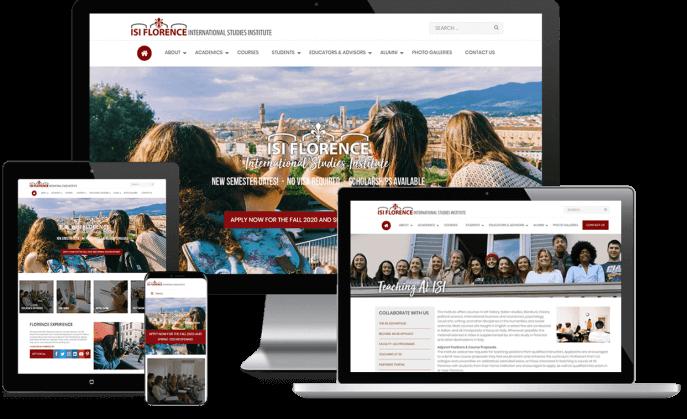 Custom website design for international education