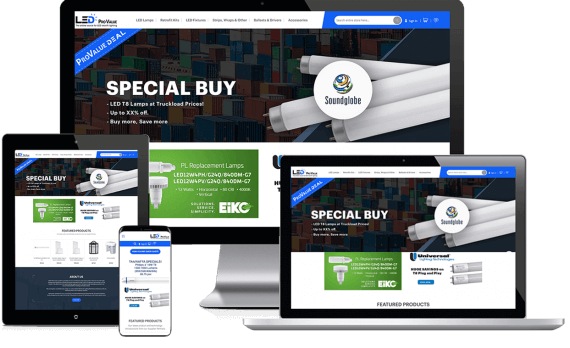 LED Pro Value Web Design Ecommerce