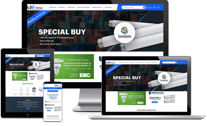 Ecommerce website for LED lighting products