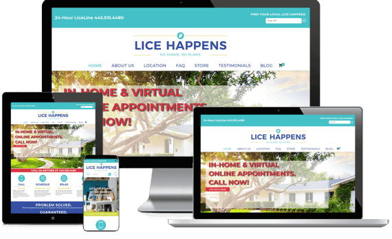 Lice Happens Web Design Medical & Healthcare