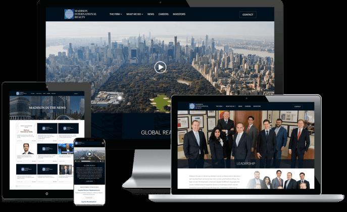 Custom website design for a real estate investment firm