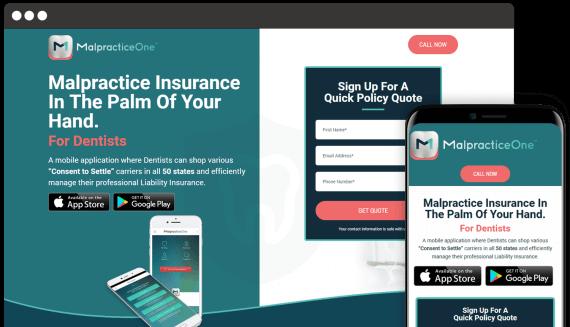 Malpractice One Web Design Small Business