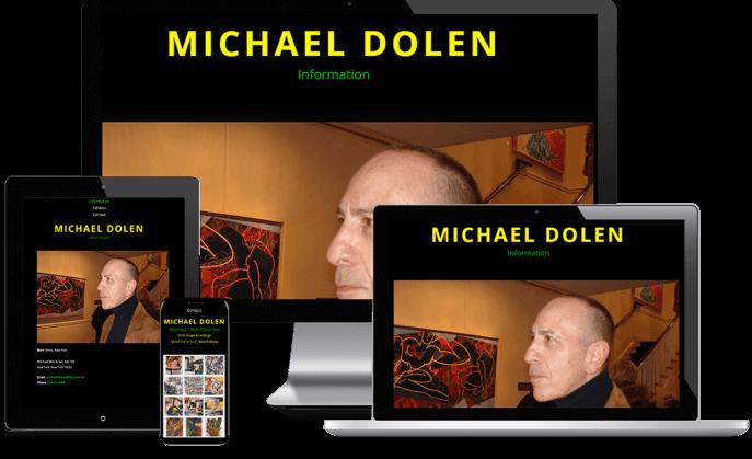 Custom website design for an artist