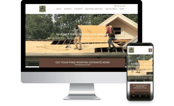 Michael J Harris Roofing Web Design Template Site