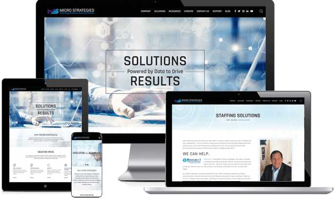 Custom website design for a technology solutions company