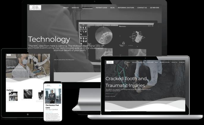 Custom website design for an endodontist
