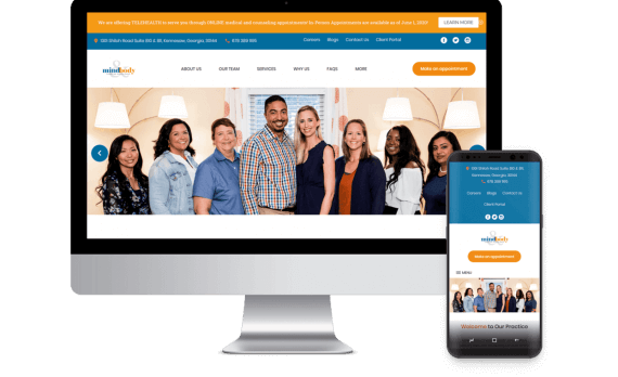 Mind & Body Christian Health Group Web Design Template Site