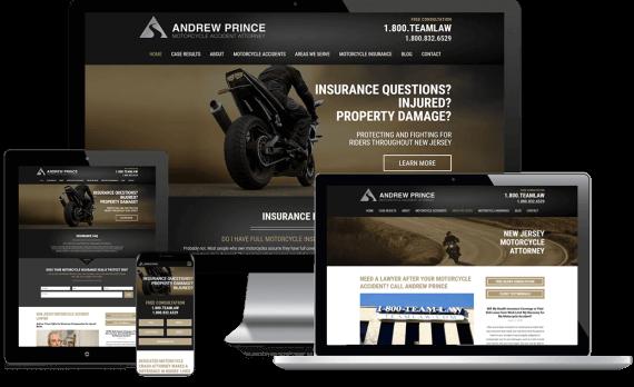 Motorcycle Injury Law Web Design Custom Website