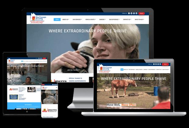 Custom website design for senior care