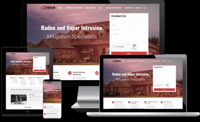 Custom website design for a radon mitigation company