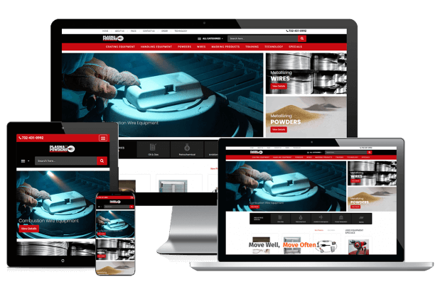 Custom website design for thermal spray solutions