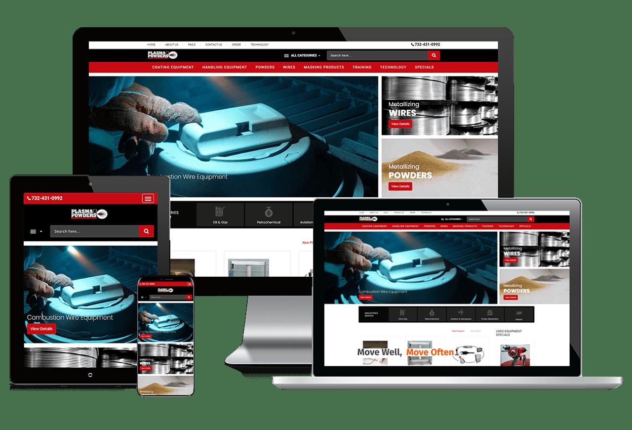 Web Design Plasma Powders Showcase