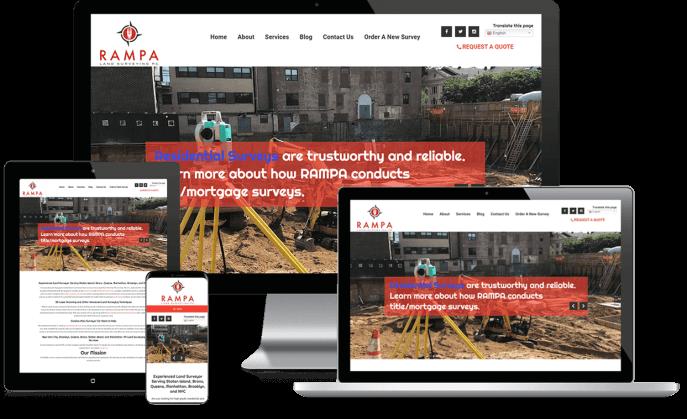 Custom website design for a surveying company