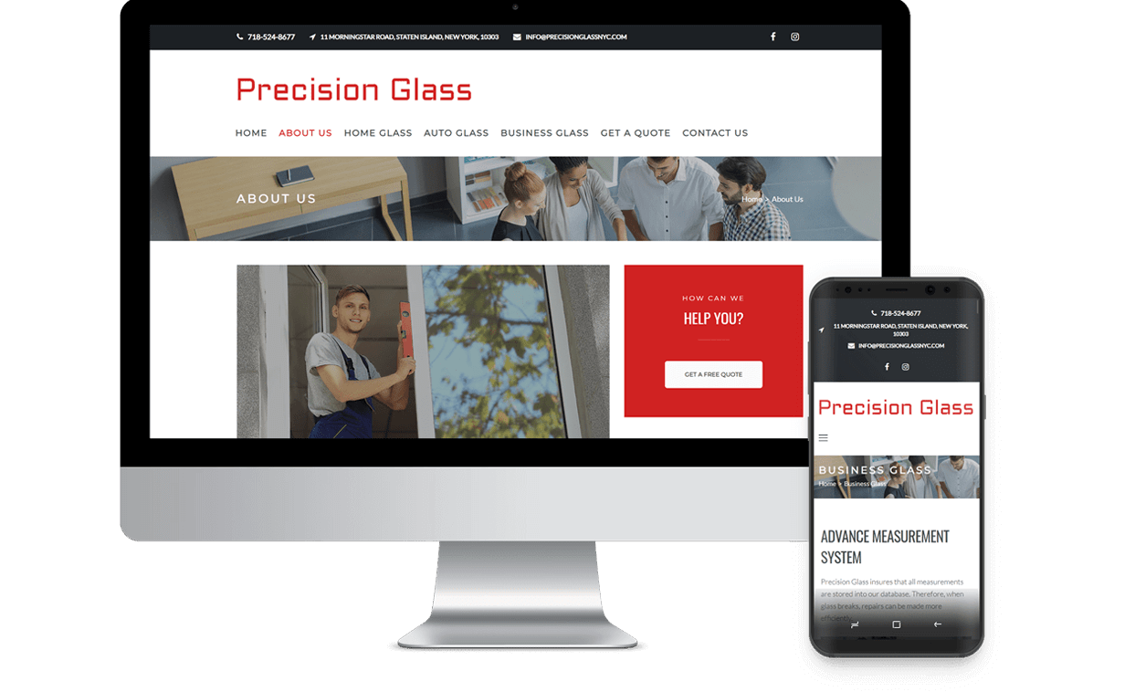 Precision Glass Staten Island Responsive