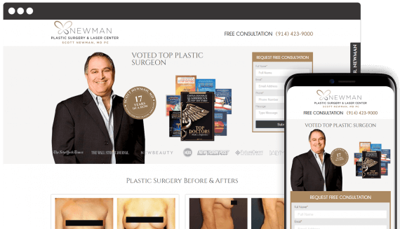 Newman Plastic Surgery Center Web Design Landing Page
