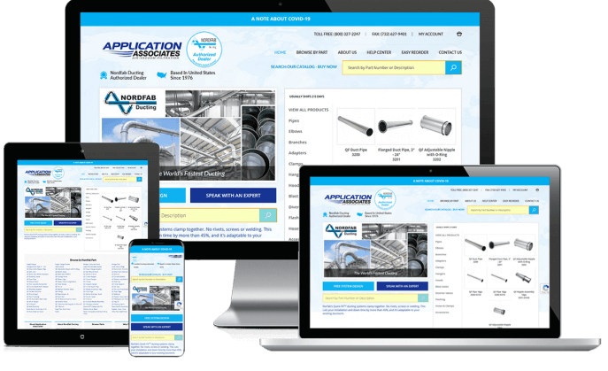 Ecommerce website for an air compressor supplier