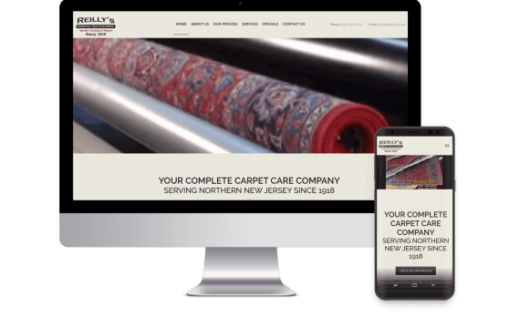 Reilly's Oriental Rug Cleaning Web Design Template Site