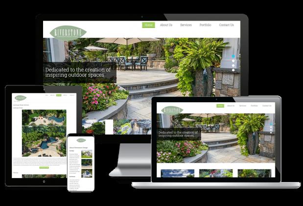 Custom website design for a landscaping company