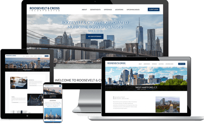 Custom website design for a securities dealer
